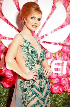 rola saad Dubai arab fashion week رولا سعد في دبي
