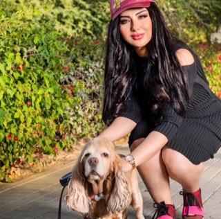 سهير القيسي اجمل صور سهير القيسي مع كلبها