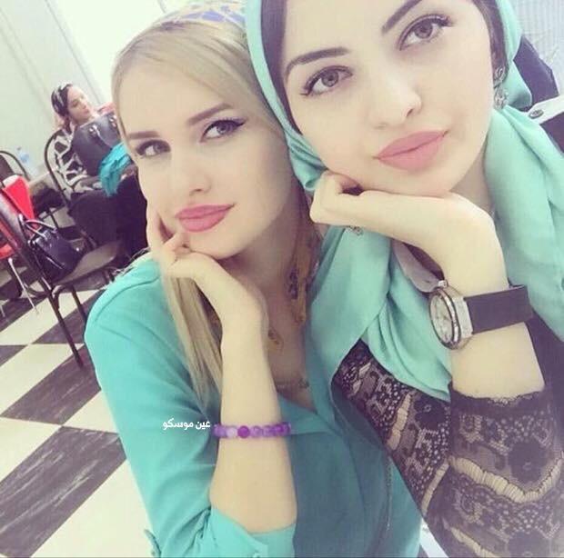 بنات الشيشان طالبات علم النفس في جامعة الشيشان ?